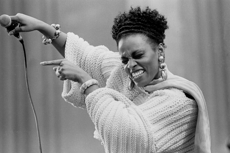 Dianne Reeves performs at the U.C. Jazz Festival at the Greek Theater in Berkeley, CA on April 29, 1989.