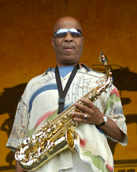 John Handy perfoms live with the Steve Miller Band at the New Orleans Jazz & Heritage Festival on April 29, 2004.