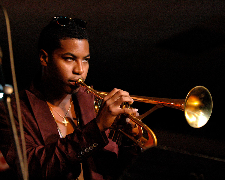 Christian Scott performs at the Monterey Jazz Festival on September 22, 2007.
