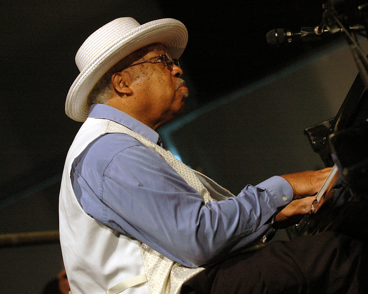 Ellis Marsalis performs at the New Orleans Jazz & Heritage Festival on May 4, 2007.