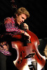 Kyle Eastwood, son of actor Clint Eastwood, performs with his band at the Monterey Jazz Festival on September 18, 2005.