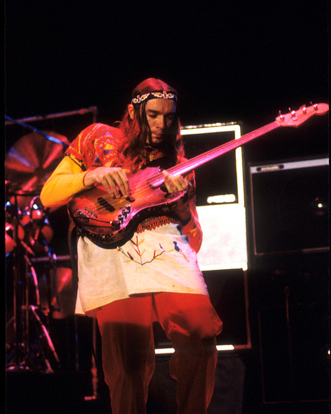 Jaco Pastorius performs with Weather Report at the Berkeley Community Theater on 11-26-78.