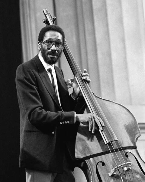 Ron Carter performing live on stage with V.S.O.P. at the Greek Theater in Berkeley, CA on September 2, 1985.