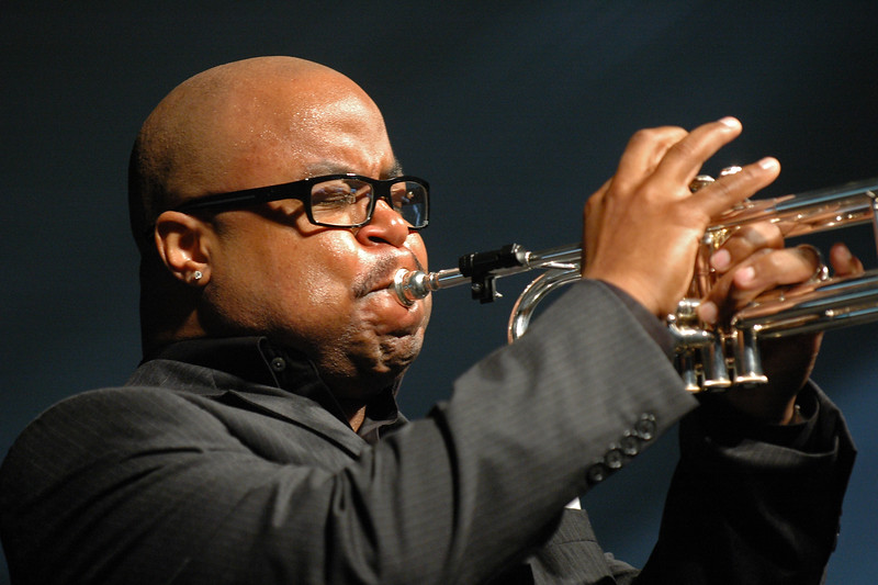 Nicholas Payton performs at the New Orleans Jazz & Heritage Festival on April 30, 2005.