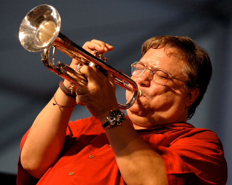 Arturo Sandoval performs at the New Orleans Jazz & Heritage Festival on April 29, 2007.