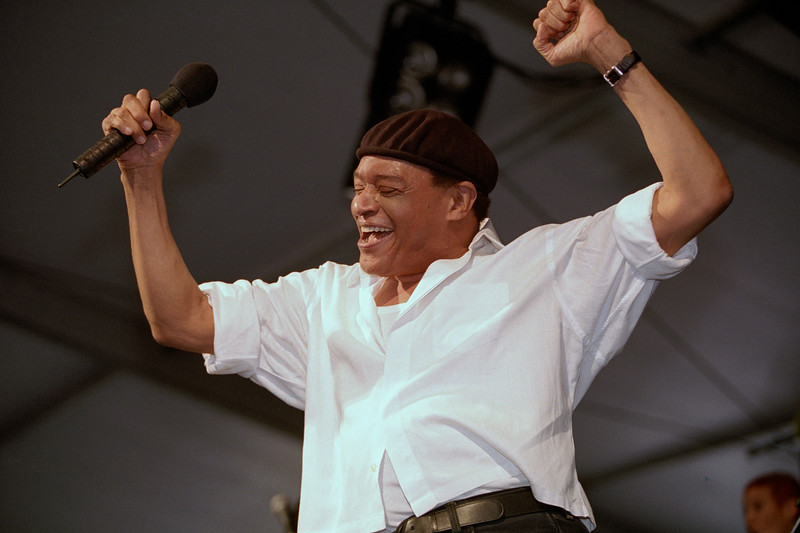 Al Jarreau performs at the New Orleans Jazz & Heritage Festival on May 6, 2001.
