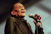Little Jimmy Scott performs at the New Orleans Jazz & Heritage Festival on April 28, 2001.