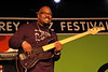 Christian McBride performs at the Monterey Jazz Festival on September 18, 2005.