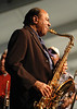 Benny Golson leads the Jazz Messengers Legacy Band at the New Orleans Jazz & Heritage Festival on April 24, 2005.