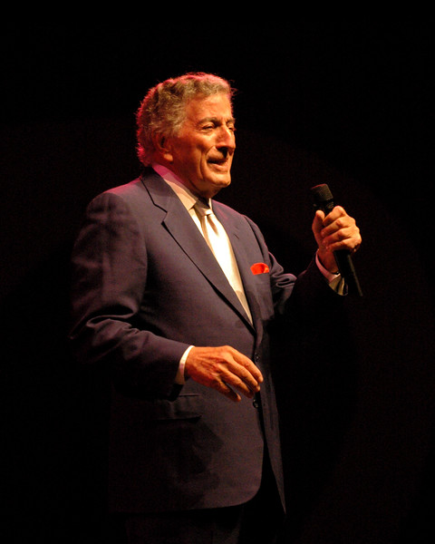 Tony Bennett performs at the Monterey Jazz Festival on 9-17-05.