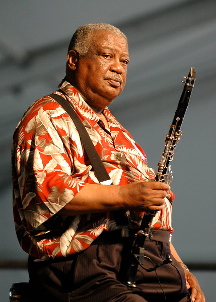 Alvin Batiste performs live at the New Orleans Jazz & Heritage Festival on May 7, 2006.