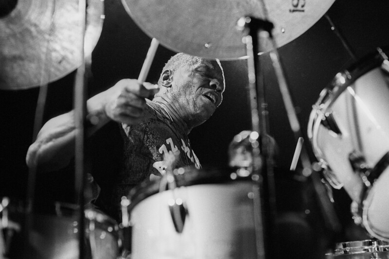 Elvin Jones performs at Kimball's East in Emeryville, CA in 1992.