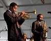 Christian Scott performs with  Donald Harrison & the Donald Harrison Quintet at the New Orleans Jazz & Heritage Festival on May 5, 2007.