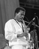 Wayne Shorter performing live on stage with V.S.O.P. at the Greek Theater in Berkeley, CA on September 2, 1985.