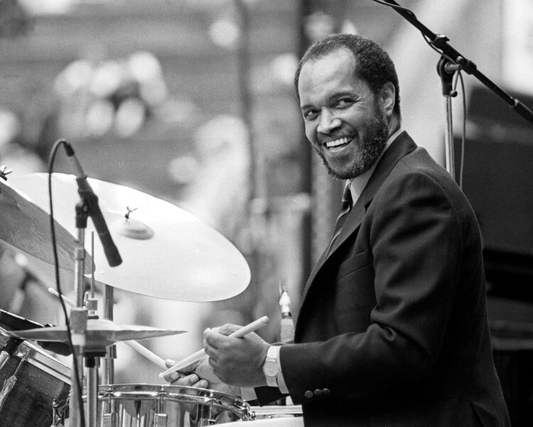 Billy Higgins performs with the Timeless All-Stars at the U.C. Jazz Festival at the Greek Theater in Berkeley, CA on May 5, 1989.