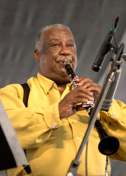 Alvin Batiste performs with The Jazztronauts at the New Orleans Jazz & Heritage Festival on May 3, 2003.