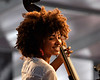 Esperanza Spalding performing at the New Orleans Jazz & Heritage Festival on May 1, 2009.