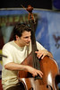 John Patitucci performs with the Wayne Shorter Quartet at the New Orleans Jazz & Heritage Festival on April 27, 2002.