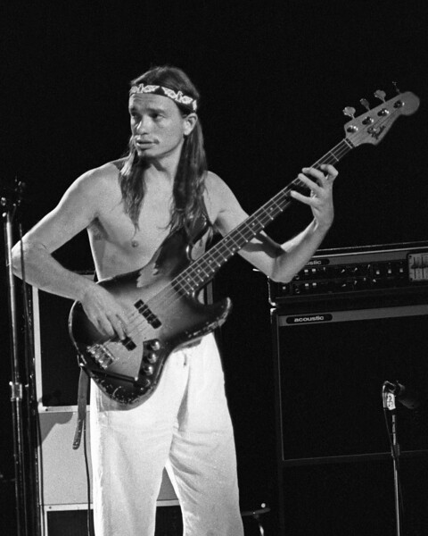 Jaco Pastorius performs with Weather Report at the Greek Theater in Berkeley, CA on May 26, 1979.