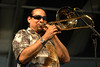 Steve Turre performing live on stage at the New Orleans Jazz & Heritage Festival on April 30, 2006.