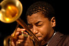 Christian Scott performs with the Donald Harrison Quintet at the New Orleans Jazz & Heritage Festival on May 5, 2007.