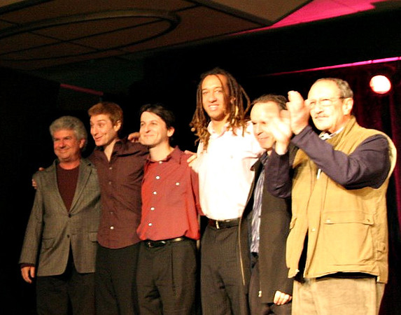 Tom Ranier, Benny Green, Tamir Hendelman, Gerald Clayton, Bill Cunliffe and Mike Melvoin in a tribute to David Abell.