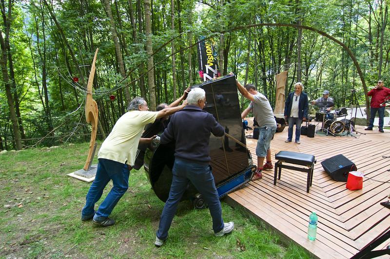 un pianoforte nel bosco - a piano in the wood