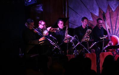 The Woodward Horns! Matt Martinez, Jimmy Smith, James Hughes, Bobby Sheng + Shannon Wade on bass