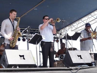 Eric Alexander, Josh Bruno and Curtis Fuller up front