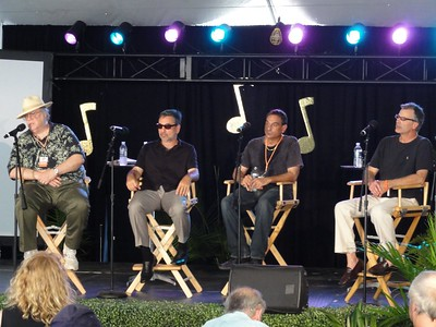 Bob Porter, Mike Ledonne, Tony Monaco and Chris Benjey.  Chris is making a film about the B-3.  Can't wait for that.