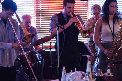 Jerry McKenzie sitting in on drums - with Marge's Bar Band