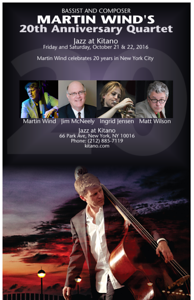 Poster - 20th Anniversary Quartet Performance