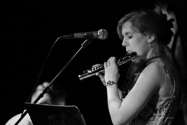 Molly Jones Flute Trio (B&W) - Cliff Bell's - 6-13-2018