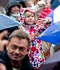 Her er det Copenhagen Gospel Singers på scenen søndag 16. maj 2010 hvor astore som små  københavnere havde trodsen regnen og søgt ly under paraplyerne for at gå i Tivoli for at overvære Tivolis Gospel Festival hvor mere end  2000 gospelsangere fordelt på 30 kor og 3 scener  del i begivenhederne. Hvad der startede som en lille musikalsk mærkedag på Plænen i Tivoli i 2009, har på et år vokset sig til at blive Danmarks største Gospel Festival med hele 2000 sangere, 28 live koncerter og 16 timers nonstop gospel.    . Photo: Torben Christensen © Copenhagen, Foto: Torben Christensen  København ©