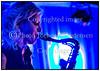 Saxofonisten Christina Dahl med Niclas Knudsen -  guitar, Jesper Lundgaard - bas, Morten Lund - trommer på scenen i Paradise Jazz i Huset i Magstræde tirsdag 9. oktober 2012. Photo: Torben Christensen © Copenhagen    <br /> ------<br /> Saxophonist Christina Dahl with Niclas Knudsen, guitar, Jesper Lundgaard, bass, Morten Lund, drums on stage at the Paradise Jazz Tuesday, October 9, 2012.  Photo: © Torben Christensen © Copenhagen