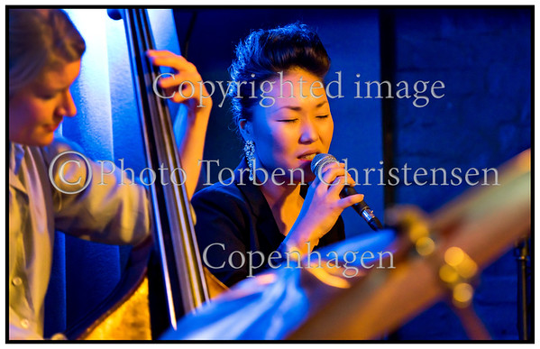 Soojin sings Elvis in Paradise Jazz Wednesday December 3. 2014, Birgitte Soojin, vocals, Steen Hansen, trombone,  Ida Hvid, bass, Frands Rifbjerg, drums.