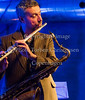 OK NOK KONGO i Paradise Jazz 7. oktober 2016 med<br /> Thomas Agergaard (saxes, fl), Anders Banke (ts), Kasper Tranberg (tp), Thor Madsen (g), Mikkel Ploug (g), Nils Davidsen (b), Martin Andersen (dr)   Photo © Torben  Christensen @ Copenhagen