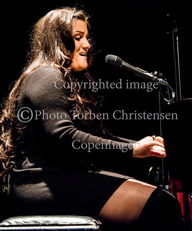 Claudia Campagnol på scenen ved Ung Jazz finale 2017 i Jazzhouse 15. april 2017 Photo © Torben  Christensen @ Copenhagen