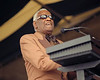 Ray Charles performing at the New Orleans Jazz & Heritage Festival on April 25, 1999.