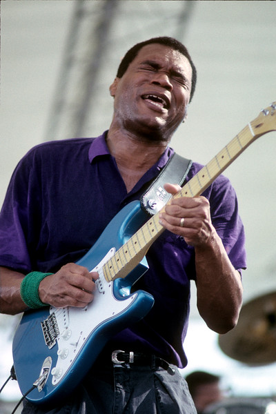 Robert Cray performs at the New Orleans Jazz & Heritage Festival in 1991.