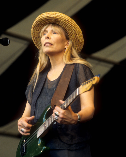 Joni Mitchell performing at the New Orleans Jazz & Heritage Festival on May 6, 1995.