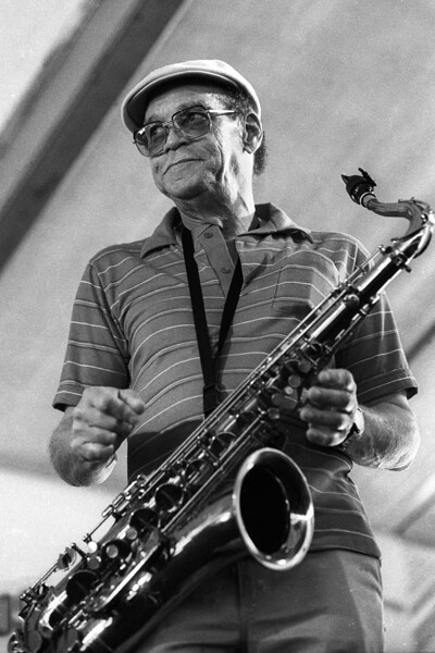 Alvin 'Red' Tyler performing at the New Orleans Jazz & Heritage Festival on May 1, 1992.