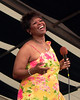 NEW ORLEANS, LA-APRIL 24: Irma Thomas performing at the New Orleans Jazz & Heritage Festival on April 24, 2004. (Photo by Clayton Call/Redferns)