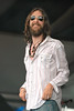 Chris Robinson performs with the Black Crowes at the New Orleans Jazz & Heritage Festival on April 22, 2005.