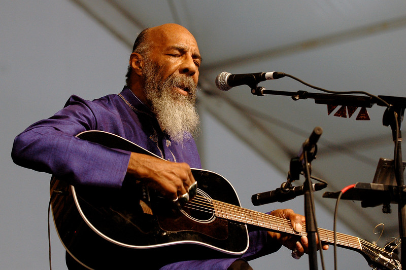 Richie Havens performs at the New Orleans Jazz & Heritage Festival on April 28, 2007.