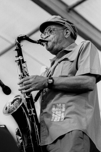 Alvin 'Red' Tyler performing at the New Orleans Jazz & Heritage Festival on April 28, 1995.