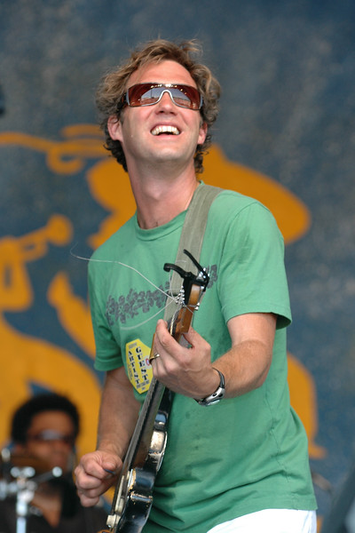 Anders Osborne performing at the New Orleans Jazz & Heritage Festival on May 1, 2005.