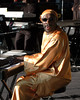 Isaac Hayes performs at the New Orleans Jazz & Heritage Festival on May 1, 2005.