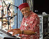 Eddie Bo performs at the New Orleans Jazz & Heritage Festival on May 4, 2000.