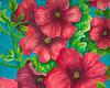 """Petunias II"" 5 x 7 2011 Watercolor."